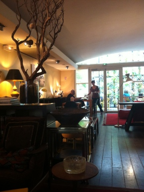 The beautiful tea salon at the oldest existing cinema in Paris