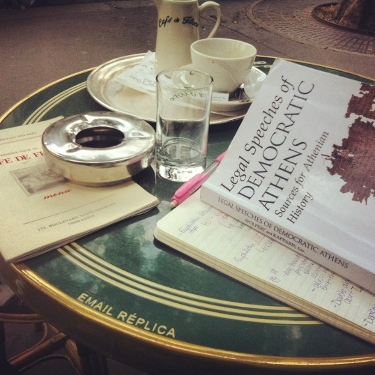 Coffee sipping at the iconic Café de Flore